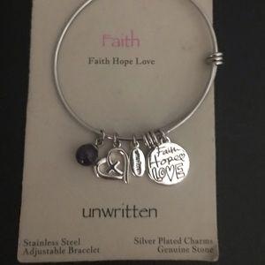 FAITH HOPE LOVE Stainless Steel bracelet NWT